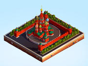 Cartoon Low Poly Kremlin Landmark 3d model