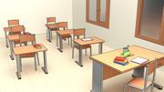 School Assets Pack 3d model