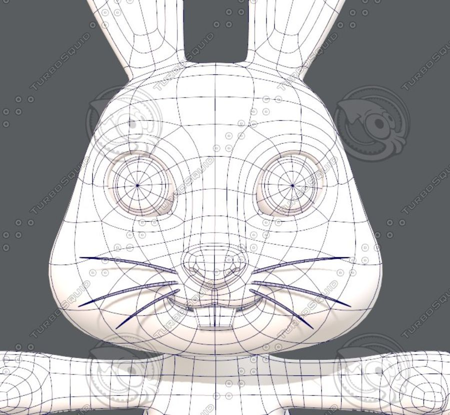 Rabbit V01 royalty-free 3d model - Preview no. 27
