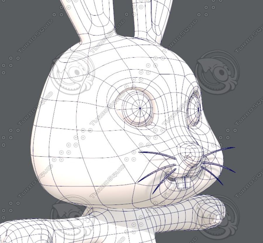 Rabbit V01 royalty-free 3d model - Preview no. 28