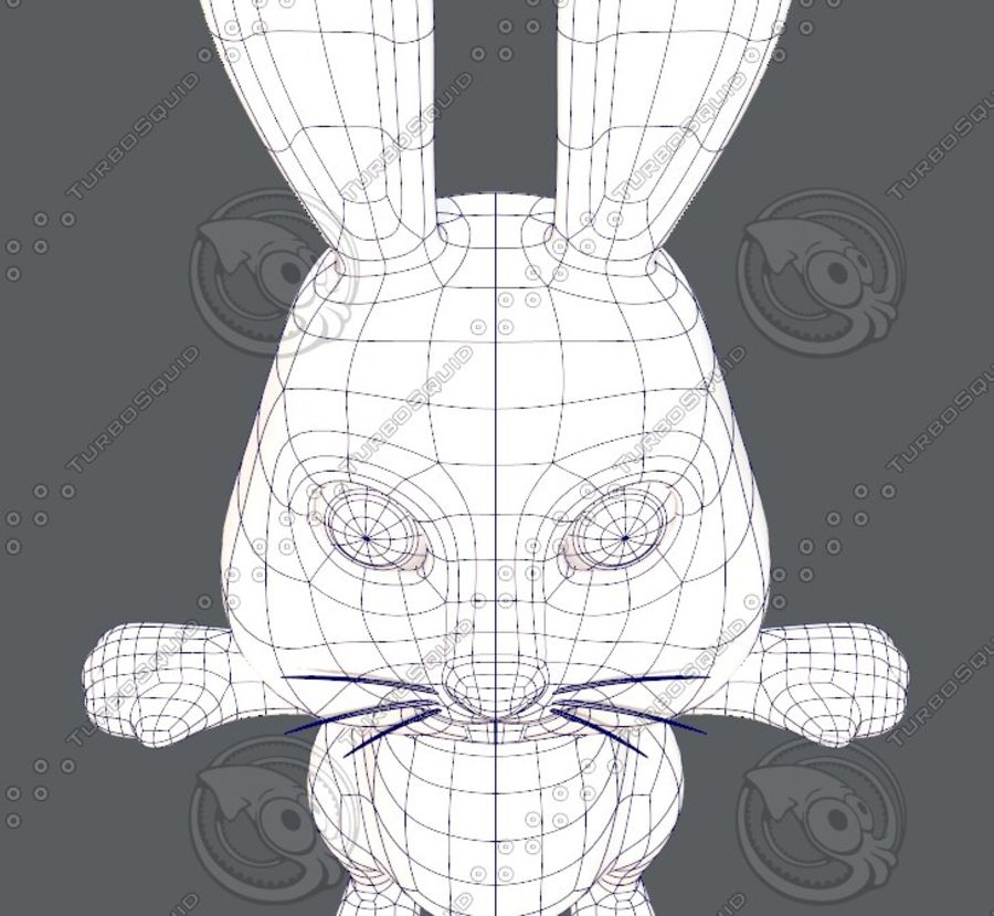 Rabbit V01 royalty-free 3d model - Preview no. 43
