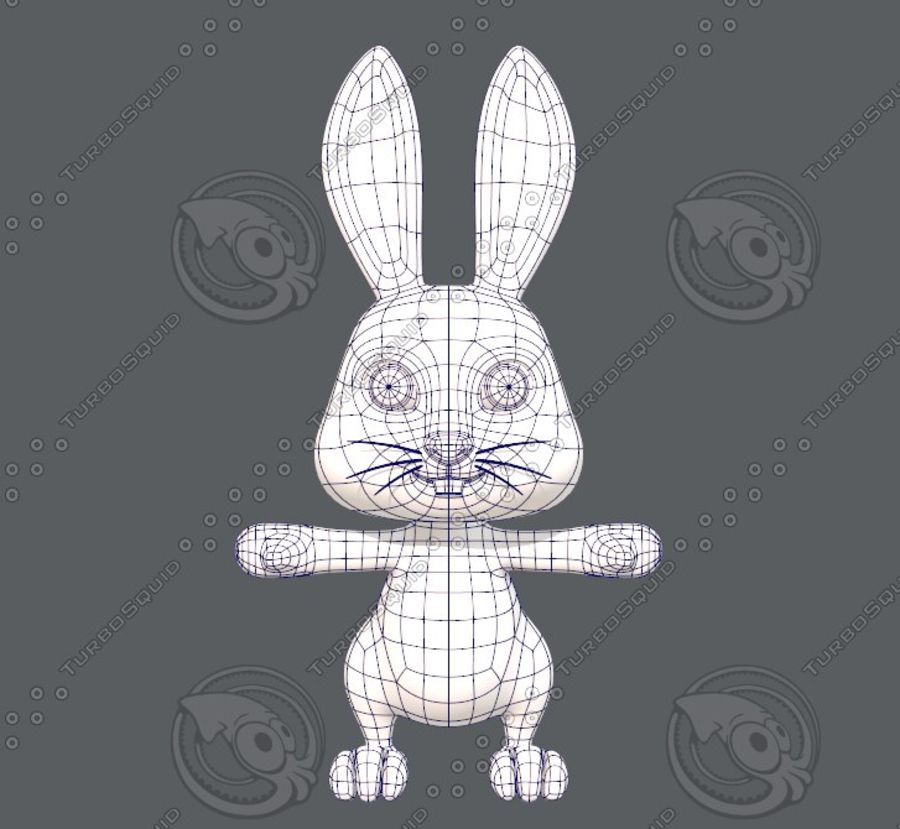 Rabbit V01 royalty-free 3d model - Preview no. 11