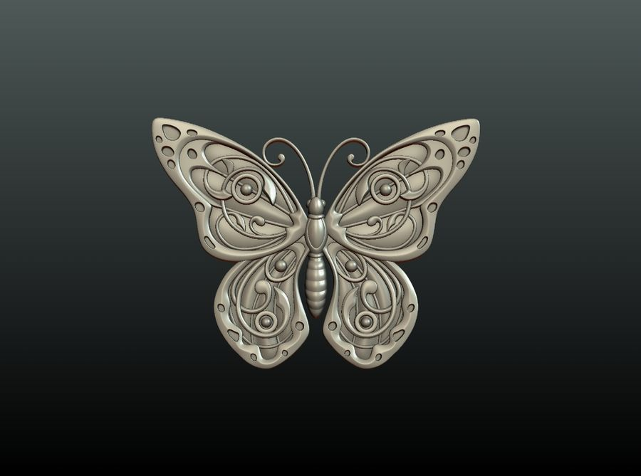 Motyl royalty-free 3d model - Preview no. 17