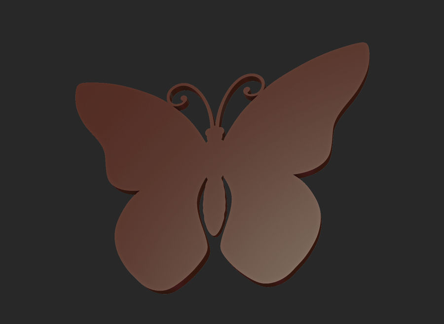 Motyl royalty-free 3d model - Preview no. 11