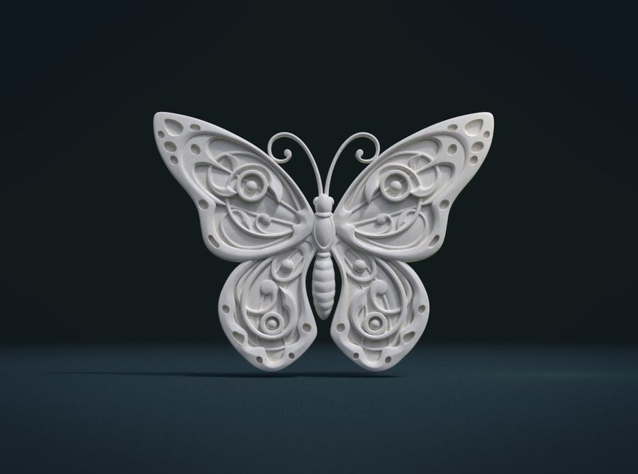 Motyl royalty-free 3d model - Preview no. 6