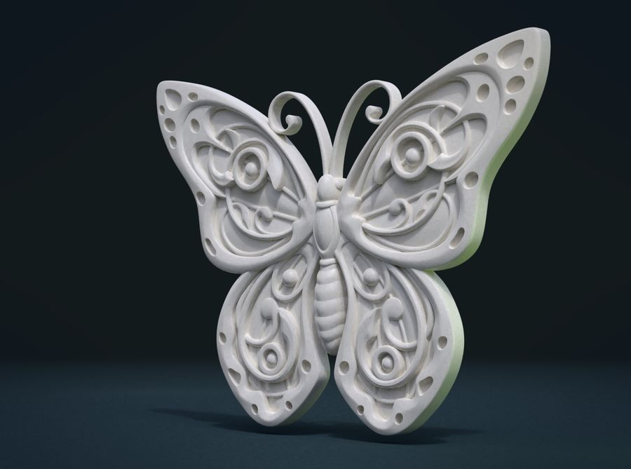 Motyl royalty-free 3d model - Preview no. 7