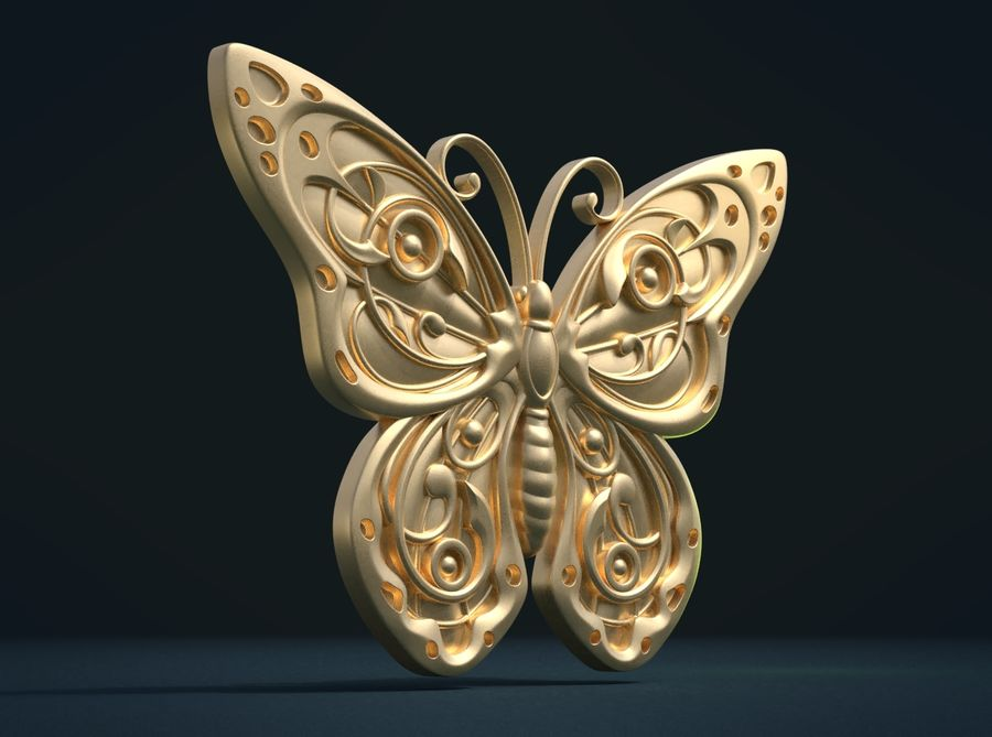Motyl royalty-free 3d model - Preview no. 9