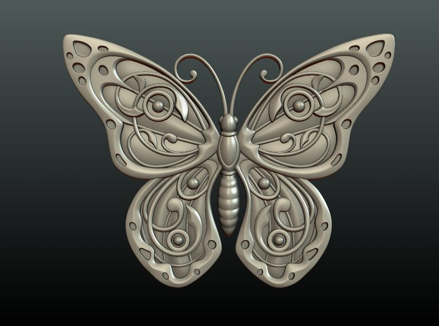 Motyl royalty-free 3d model - Preview no. 25