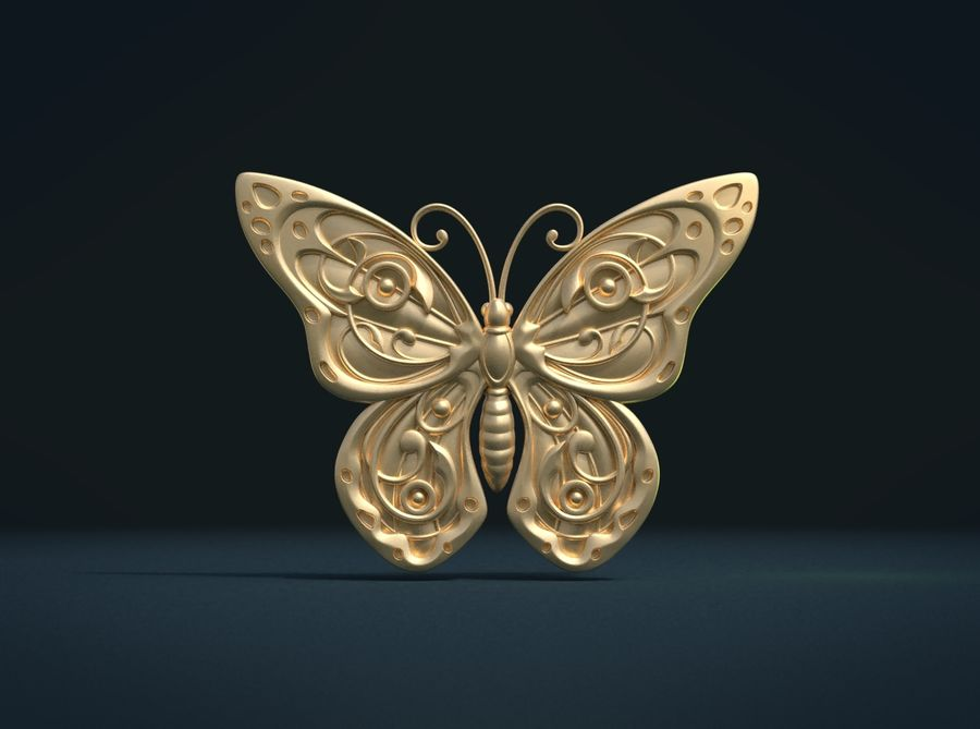 Motyl royalty-free 3d model - Preview no. 3