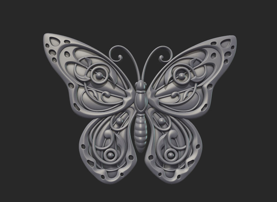 Motyl royalty-free 3d model - Preview no. 15