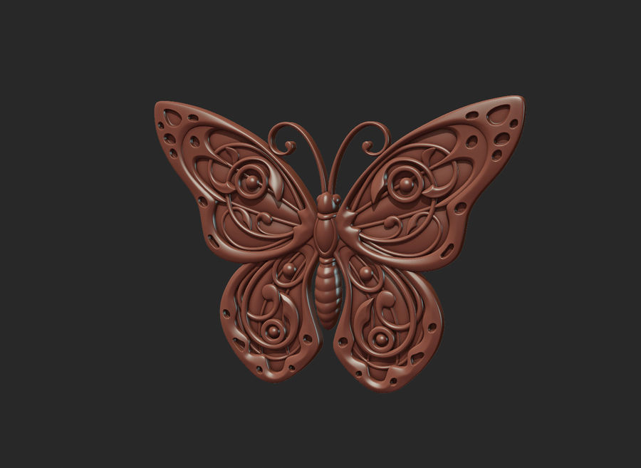 Motyl royalty-free 3d model - Preview no. 5