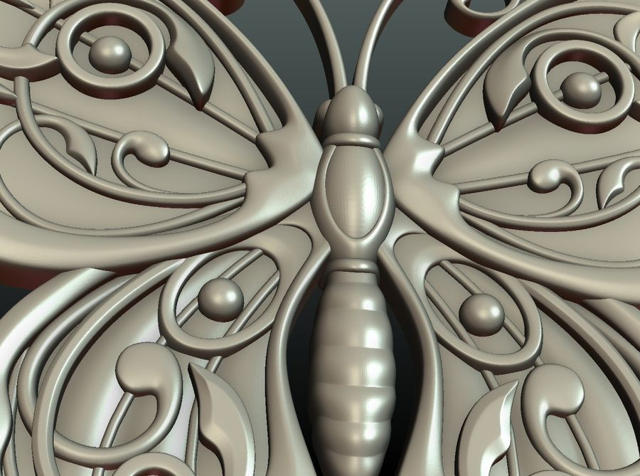 Motyl royalty-free 3d model - Preview no. 22