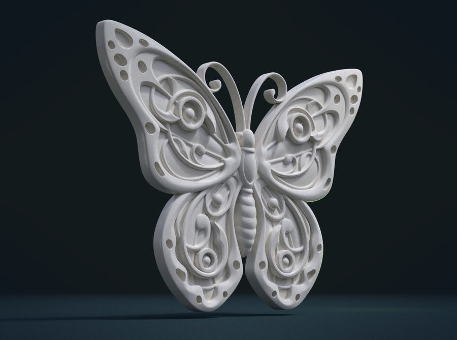 Motyl royalty-free 3d model - Preview no. 8