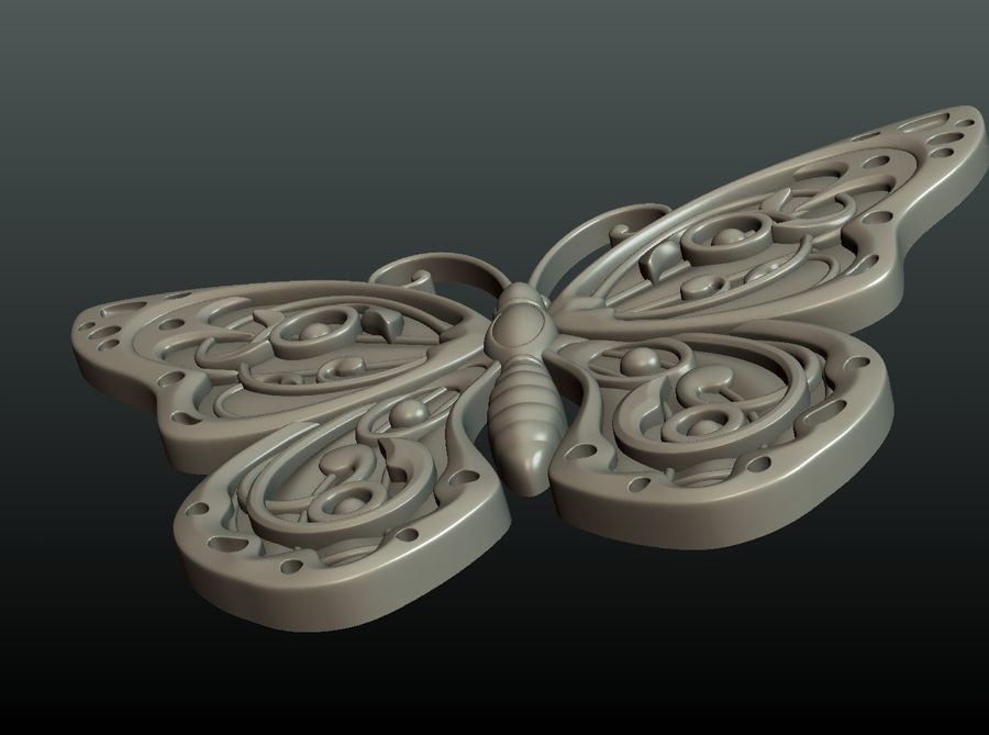 Motyl royalty-free 3d model - Preview no. 24