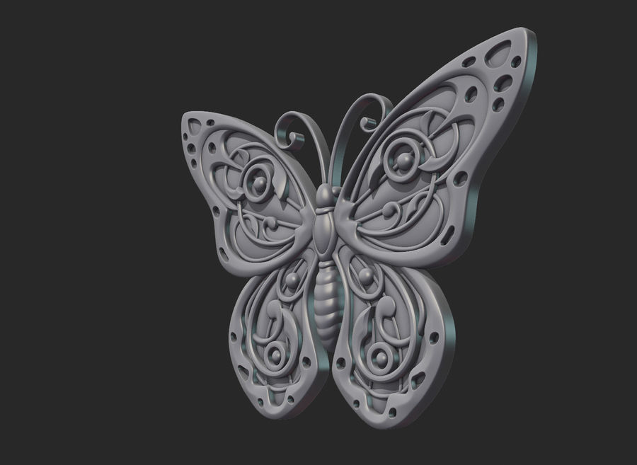 Motyl royalty-free 3d model - Preview no. 14