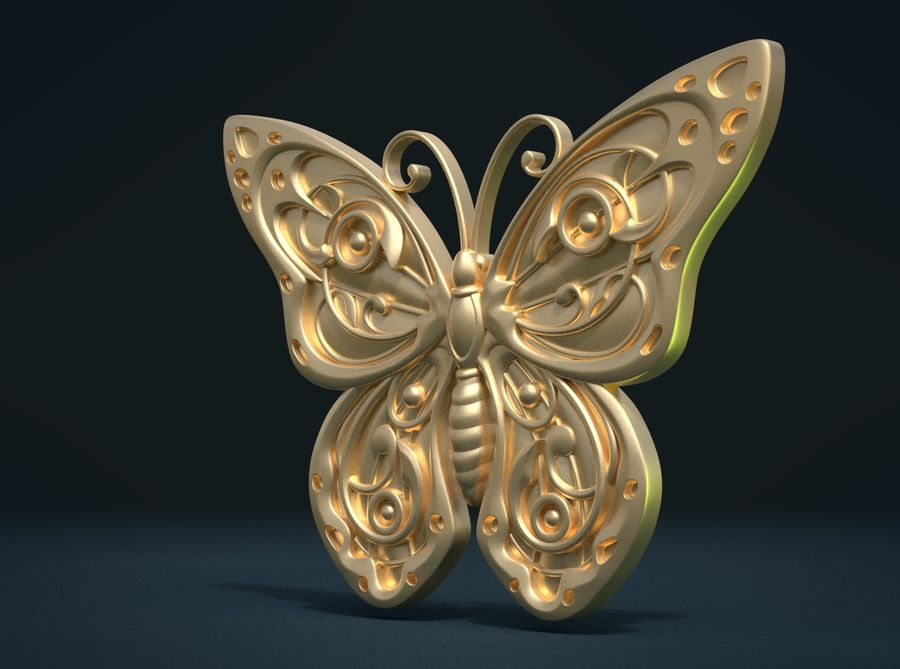 Motyl royalty-free 3d model - Preview no. 4
