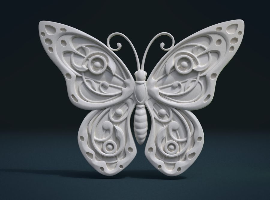Motyl royalty-free 3d model - Preview no. 1