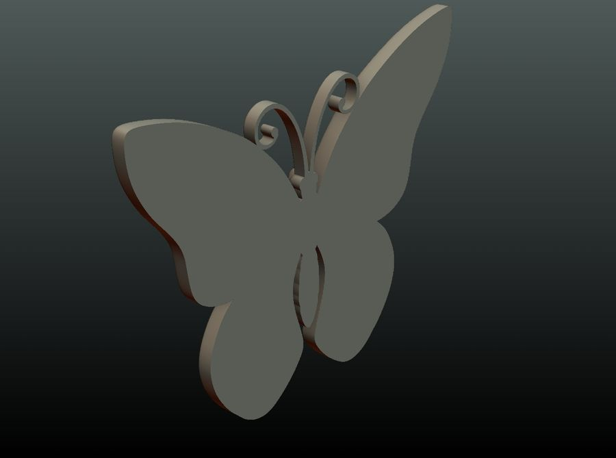 Motyl royalty-free 3d model - Preview no. 23