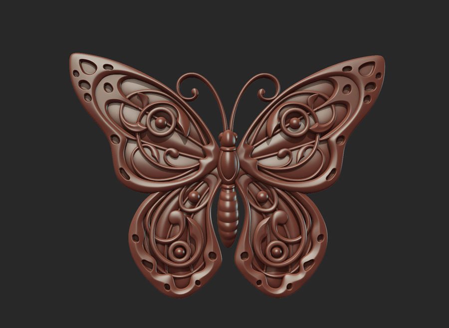 Motyl royalty-free 3d model - Preview no. 12