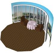 Уютный ресторан 3d model