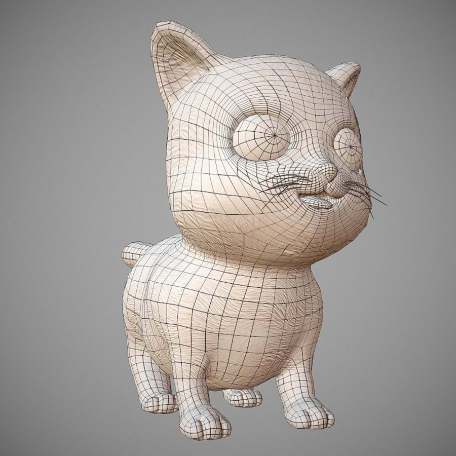 凯蒂猫 royalty-free 3d model - Preview no. 11