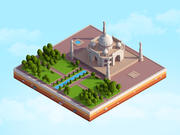 Cartoon Lowpoly Tajmahal Landmark 3d model