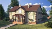 Buitenkant van het huis 3d model