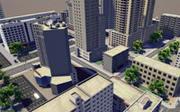 Manzana de la ciudad modelo 3d