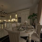 经典厨房家具 3d model
