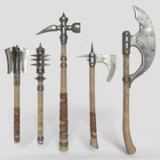 middeleeuwse wapens v1 3d model