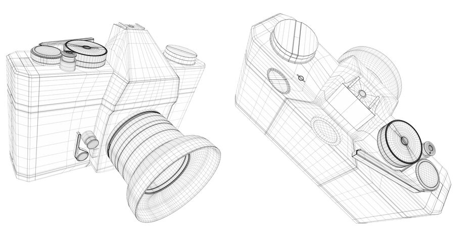 Spiegelreflexkamera royalty-free 3d model - Preview no. 5