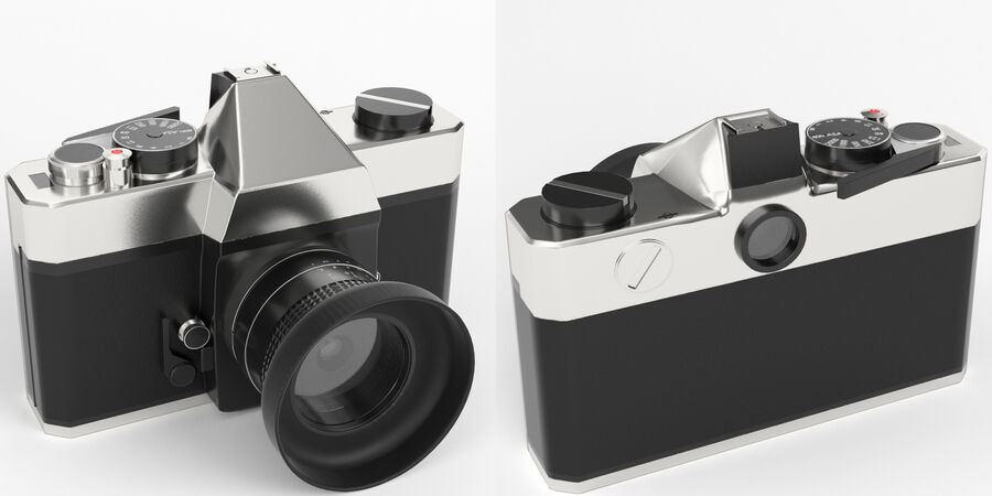 Spiegelreflexkamera royalty-free 3d model - Preview no. 2
