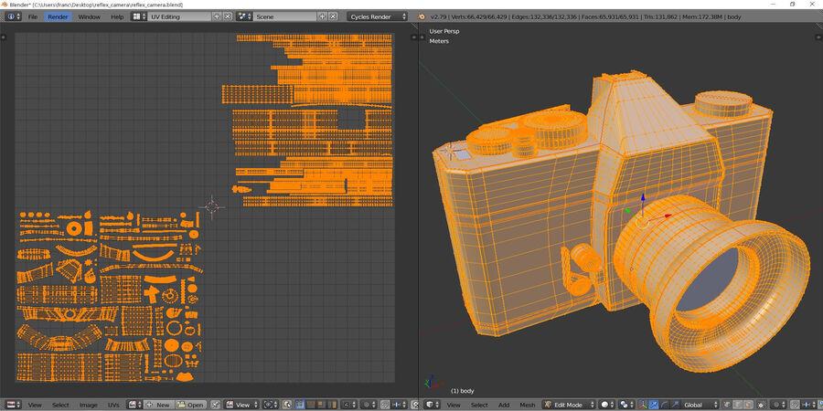 Spiegelreflexkamera royalty-free 3d model - Preview no. 7
