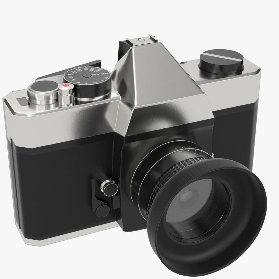 Spiegelreflexkamera royalty-free 3d model - Preview no. 1