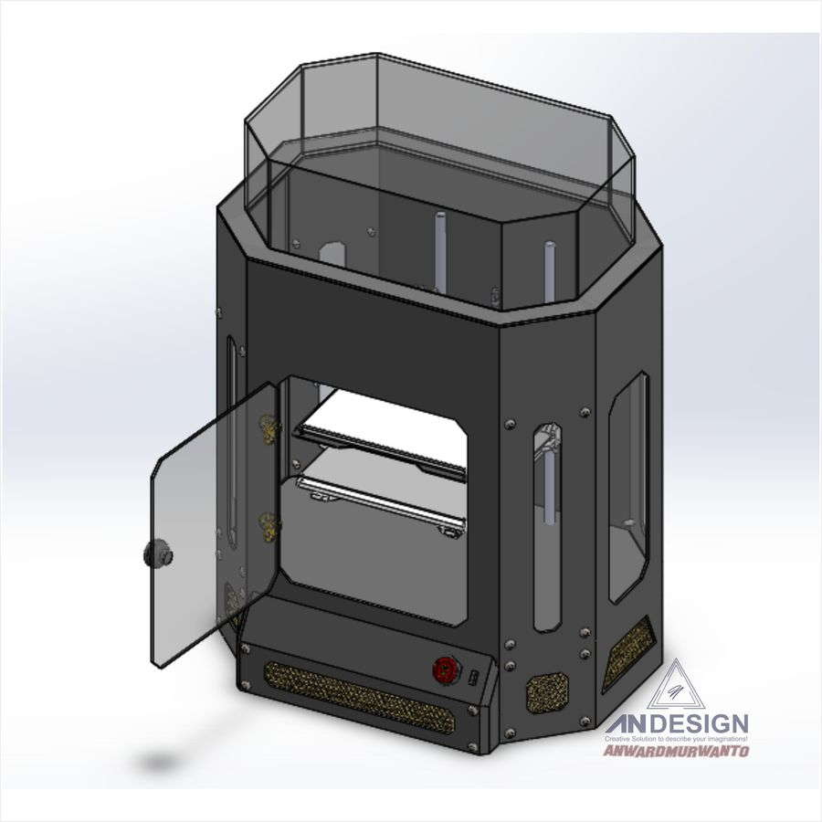 3Dプリンター機械 royalty-free 3d model - Preview no. 10