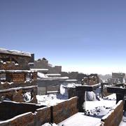 Разрушенный город 3d model