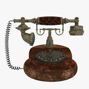 Antique Rotary Dial Phone Old/Dirty Model 3d model