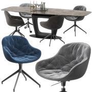 Igloo chair Orbital table 3d model