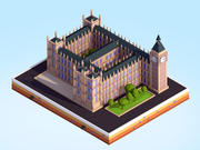 Low Poly Big Ben Landmark 3d model