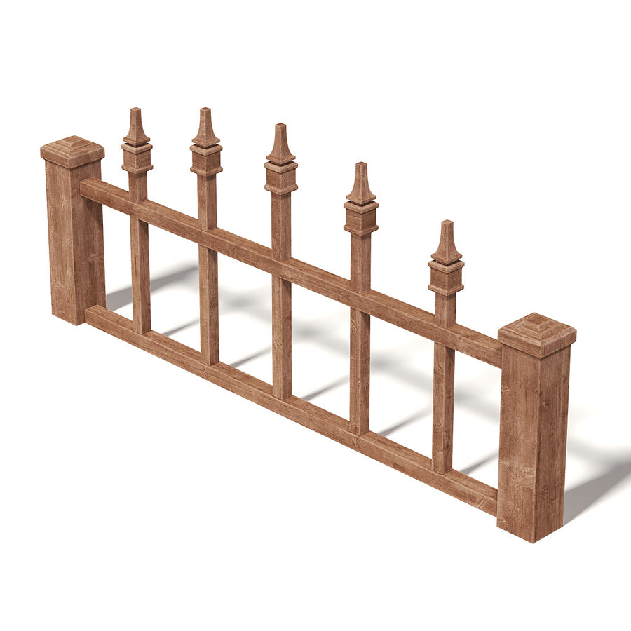 Wooden Fence 3D 모델 royalty-free 3d model - Preview no. 5
