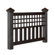 Dark Wooden Fence 3D 모델 3d model