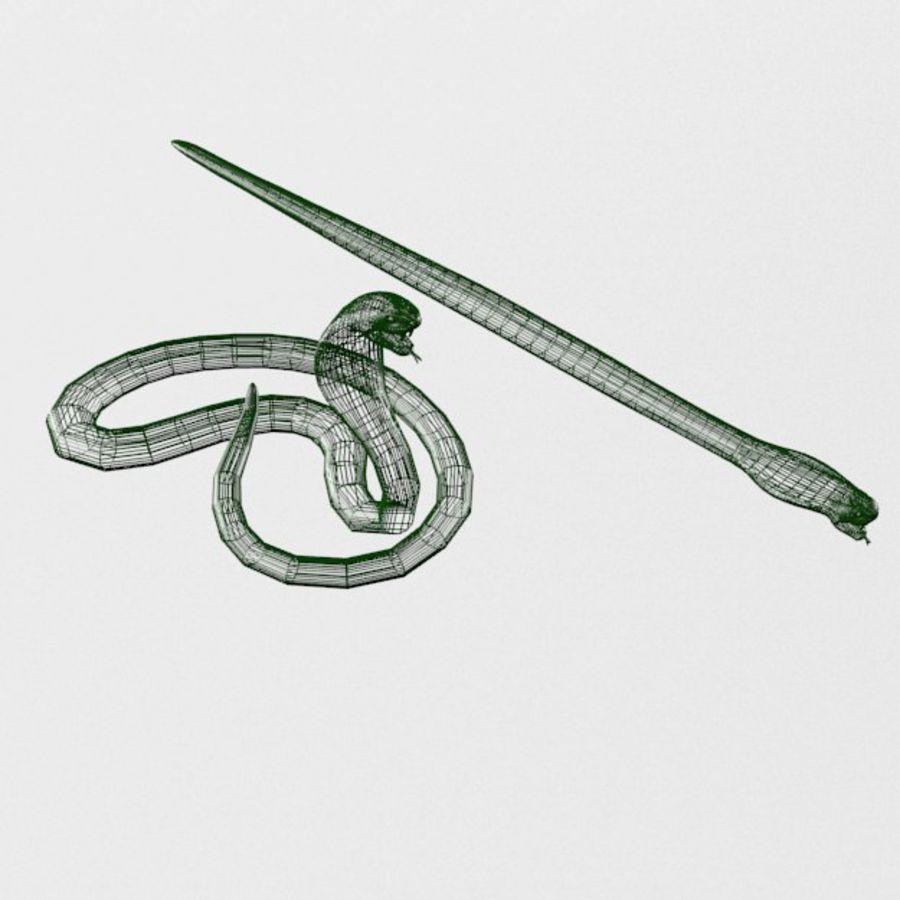 眼镜蛇蛇 royalty-free 3d model - Preview no. 5