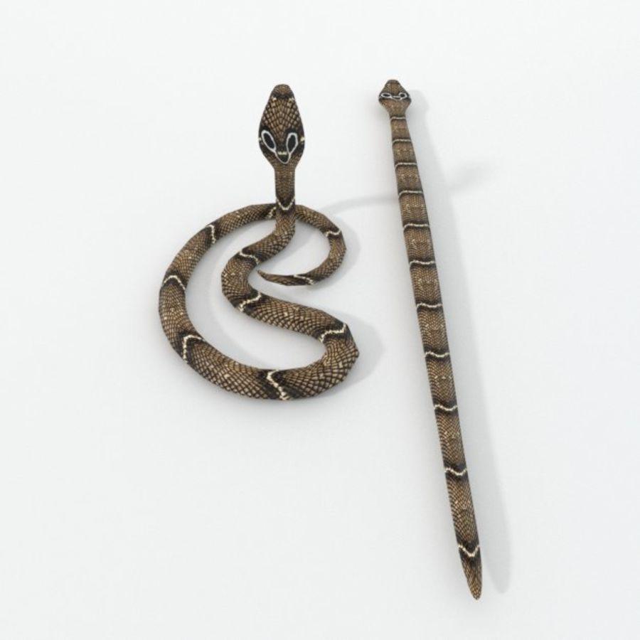 眼镜蛇蛇 royalty-free 3d model - Preview no. 2