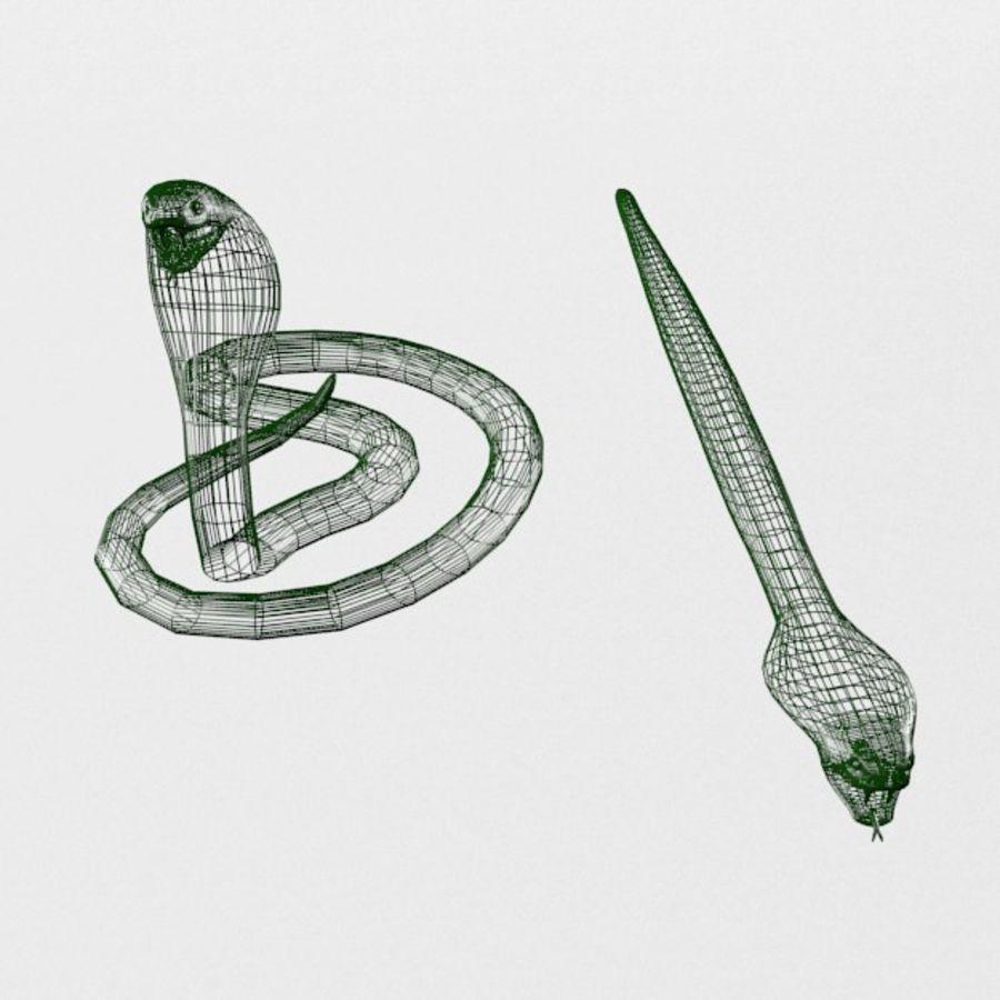 眼镜蛇蛇 royalty-free 3d model - Preview no. 7