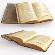 打开桌上的书 3d model