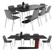 Chaise Bold Table Pletra par Lago 3d model