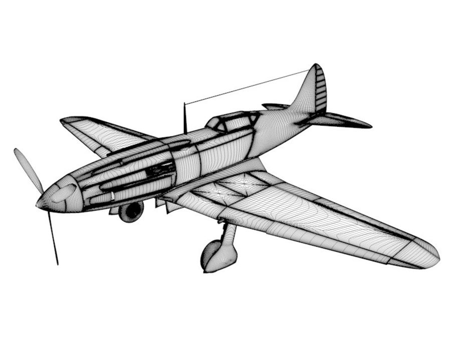 Mig 3 royalty-free 3d model - Preview no. 12