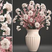 Decoratief boeket bloemen 3d model