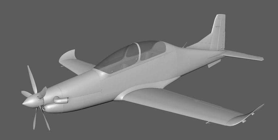Hurkus 3D Plane/Aircraft Model royalty-free 3d model - Preview no. 1
