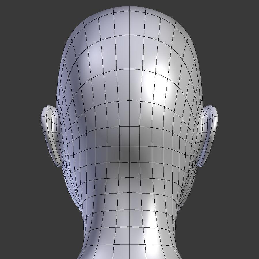 ベースメッシュの女性トポロジ royalty-free 3d model - Preview no. 14
